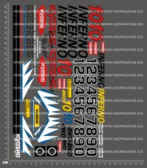 1/10TH KYOSHO - INFERNO 10 DECALS