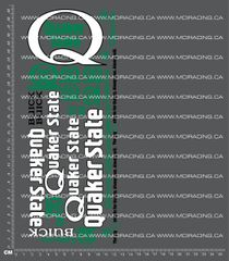 1/10TH QUAKER STATE DECALS