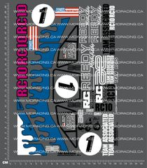 1/10TH ASSOCIATED - RC10 - TURBO MIRAGE BOX ART DECALS