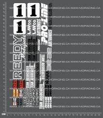 1/10TH ASSOCIATED - RC10-T - CLIFF LETT DECALS