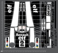 1/12TH AYK - RENAULT ALPINE A442B TURBO DECALS