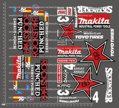 1/10TH SHORT COURSE - STAR PUNCHED DECALS
