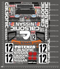 1/10TH KYOSHO - CALSONIC SKYLINE GTR DECALS
