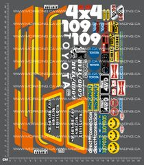 1/10TH TAM 58028 - TOYOTA HILUX DECALS