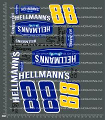 1/10TH NASCAR - HELLMANN'S DECALS