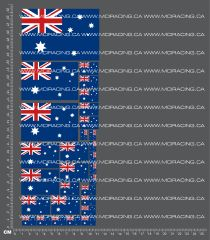 1/10TH FLAGS - AUSTRALIA DECALS
