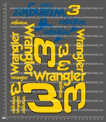 1/10TH NASCAR - WRANGLER DECALS