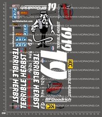 1/10TH SHORT COURSE TRUCK - HERBST 19 V2 DECALS