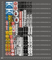 1/10TH KYOSHO - LAND JUMP INTEGRA DECALS