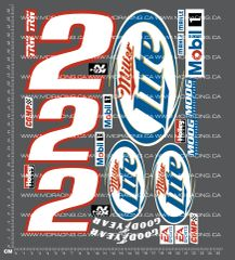 1/10TH SHORT COURSE TRUCK - MILLER LITE DECALS