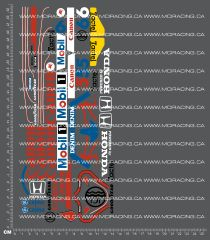 1/10TH TAM 58069 - WILLIAMS FW11B HONDA F1 DECALS