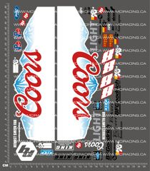 1/10TH SHORT COURSE TRUCK - COORS LIGHT DECALS V2