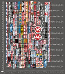 1/10TH NASCAR / MONSTER TRUCK - SPONSOR DECAL SHEET VERSION 2