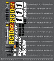 1/10TH ASSOCIATED - RC10 T2 - BOX ART DECALS