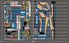1/10TH TAM 58179 - WILLIAMS RENAULT FW18 DECALS