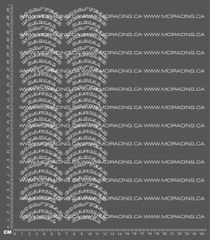 1/10TH GOODYEAR WRANGER RADIAL TIRE DECALS