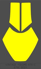 VINTAGE YOKOMO 870-C 870C BODY WINDOW MASKS