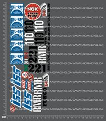 1/10TH TAM 58015 - RACING BUGGY SAND SCORCHER / ROUGH RIDER - SHEET C DECALS