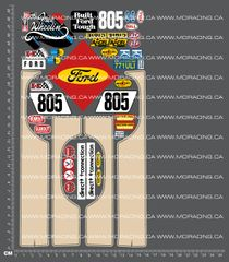 1/10TH TAM 58027 - FORD RANGER - SMALL WHEEL WELL (APPROX. 80MM) DECALS