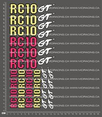 1/10TH ASSOCIATED - RC10 GT - GENERIC DECALS
