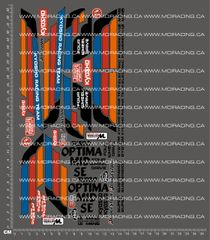 1/10TH KYOSHO - OPTIMA MID SE DECALS