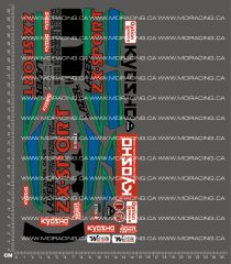 1/10TH KYOSHO - LAZER ZX SPORT DECALS