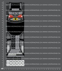 1/18TH HPI - MICRO RS4 - HONDA CIVIC DECALS