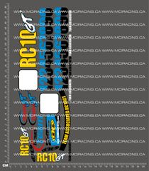 1/10TH ASSOCIATED - RC10 GT - FACTORY TEAM DECALS