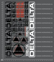 1/10TH DELTA - VERSION 2 DECALS