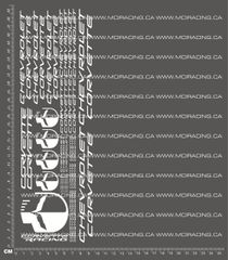 1/10TH CHEVROLET - CORVETTE DECALS