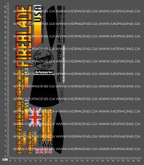 1/10TH SCHUMACHER - FIREBLADE USA DECALS