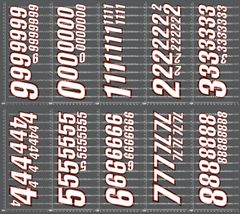 1/10TH NUMBER DECALS - VERSION 1