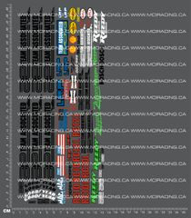 1/10TH ASSOCIATED - RC10 - GENERIC SHEET 2 DECALS