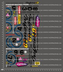 1/10TH KYOSHO - INFERNO 10 V2 DECALS
