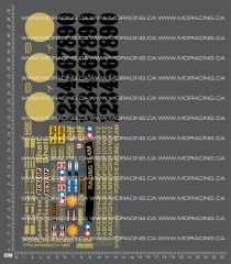 1/12TH TAM 58001 - PORSCHE 934 - GOLD DECALS
