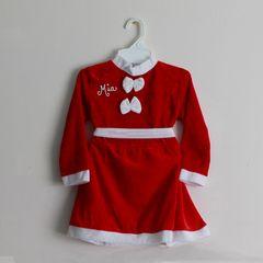 Santa Dress and Matching Hat (Velvet)