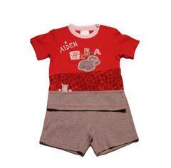 Zebra Shirt and Shorts Set