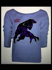 Black Panther Womens Long Sleeve Tshirt