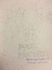 Black panther pencil drawing