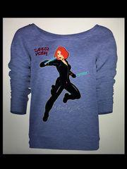 Black Widow Long Sleeve Tshirt
