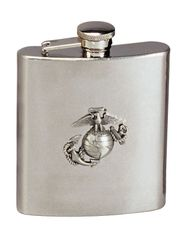 Flask, Stainless Steel, 8 Oz., U.S. Marine Corps