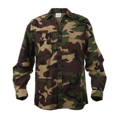 Flannel Shirt, Camouflage - 100% Cotton