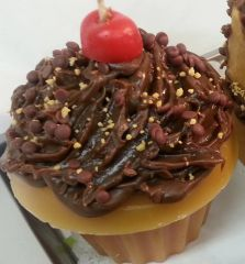 Candle Cupcake Lite Chocolate Crunch