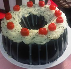 Black Forest Pound Cake Candles with Cherries & Sprinkles