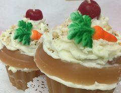 Candle Cupcake Carrot Cake
