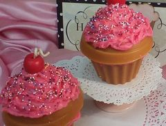 Candle Cupcake Strawberry Sprinkle