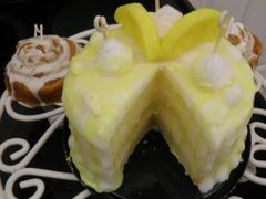 Candle Cake Slice-out Lemon Burst