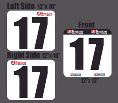 AMERICAN FLAT TRACK TWINS PLATES - One Hard Front And Two Preprinted Side Stickers