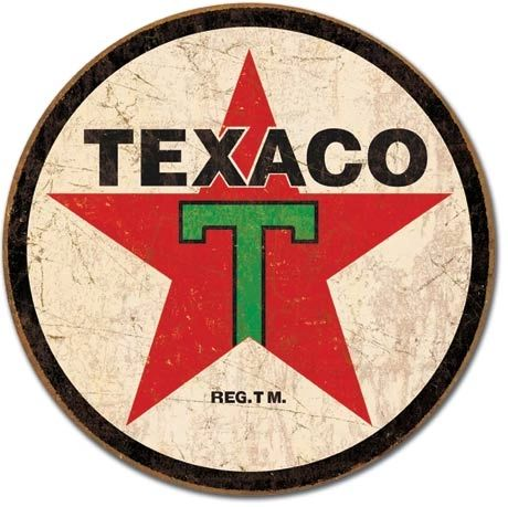 Texaco Gas Metal Sign