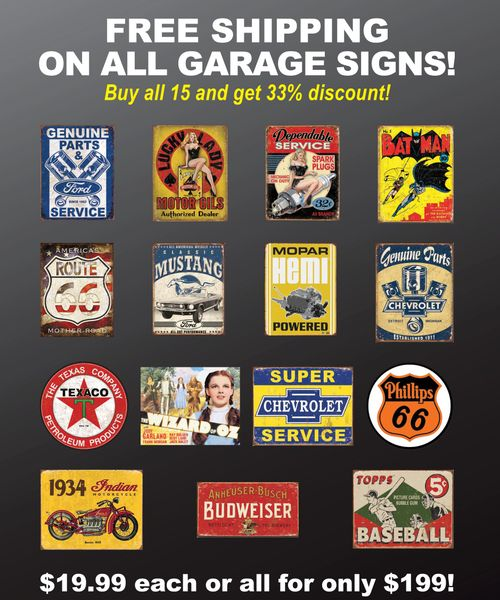 Garage Signs Value Package D